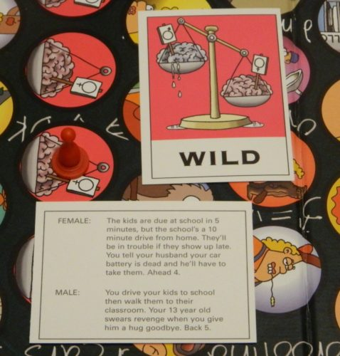 Battle of the Sexes IQ Test Board Game Wild Cards
