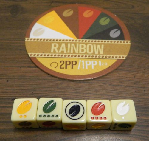 Rainbow Blend in Viva Java Dice Game