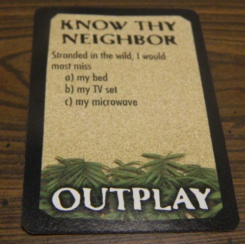 Know Thy Neighbor in Survivor