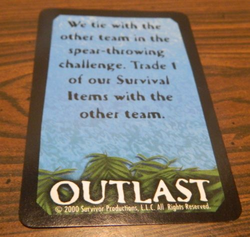 Outlast Team Card from Survivor