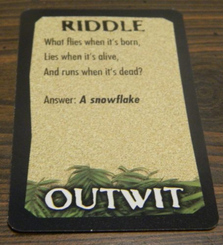 Individial Riddle from Survivor