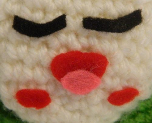 Face for Dumpling Amigurumi from Sushi Go