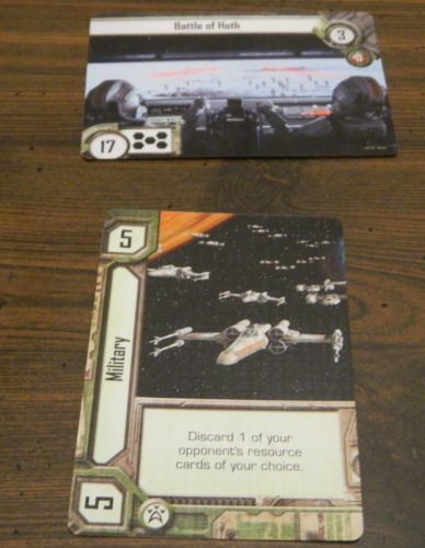 Playing A Card in Star Wars Empire vs Rebellion