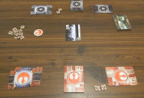 Setup for Star Wars Empire vs Rebellion