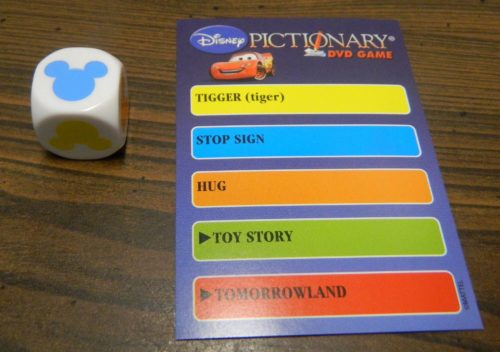 Category in Disney Pictionary DVD Game