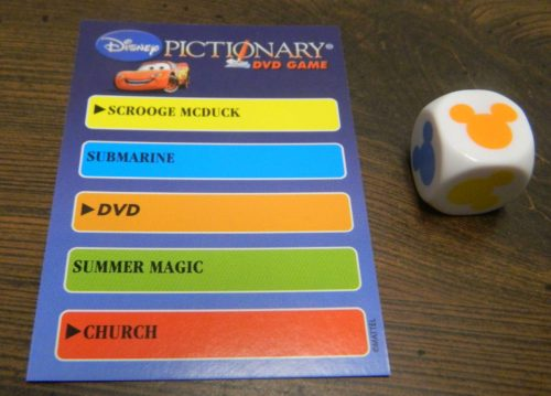 DVD Question in Disney Pictionary DVD Game