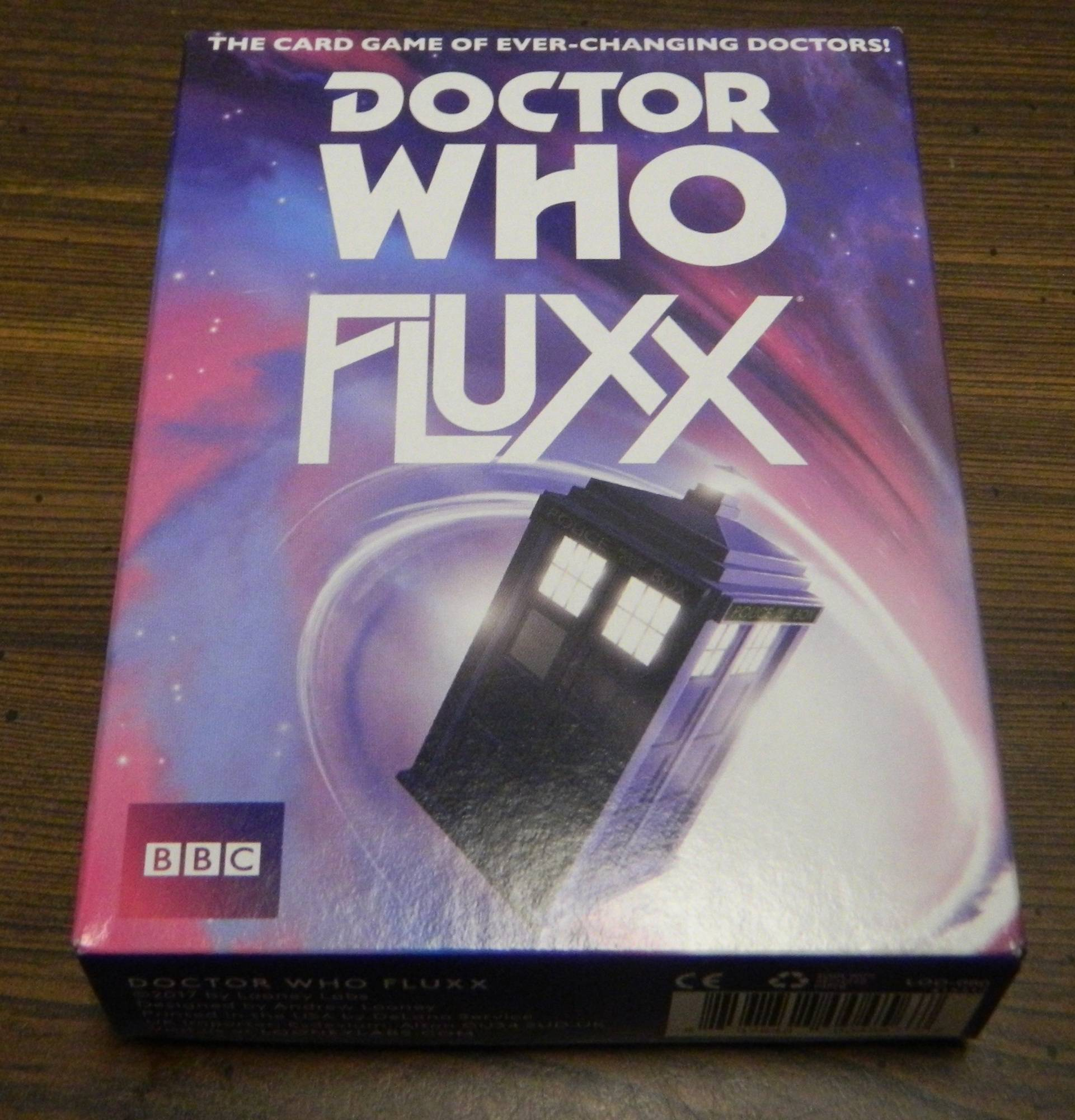 Box for Doctor Who Fluxx