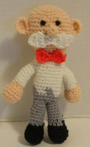 Assembly of Mr. Monopoly Amigurumi