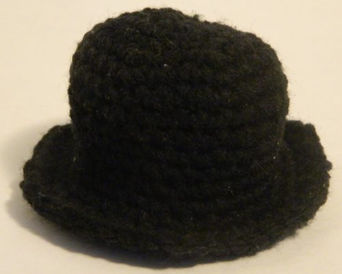 Crocheted Hat for Mr. Monopoly