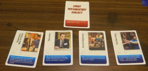 Single Card in The Bing Bang Theory The Party Game