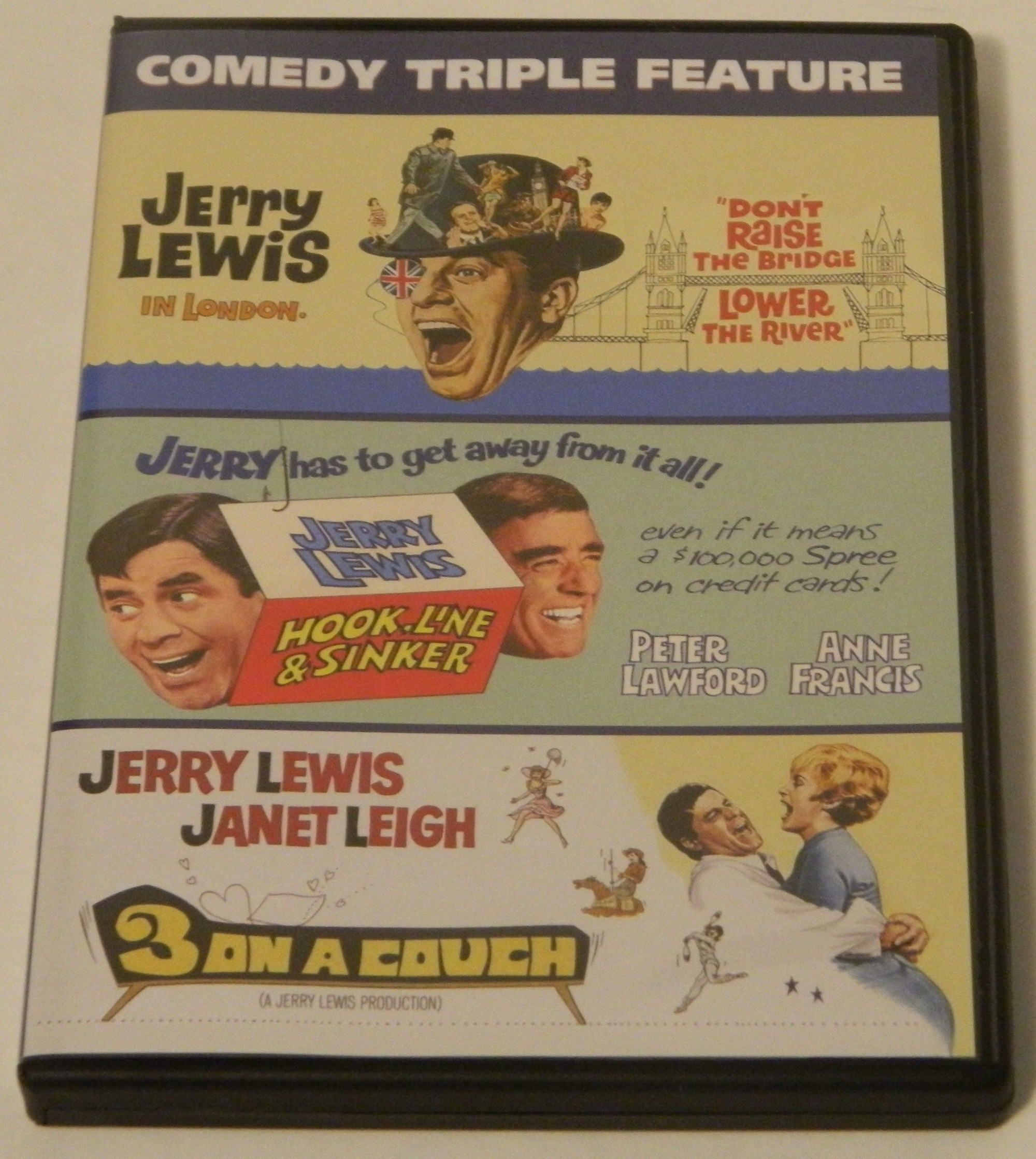Jerry Lewis Comedy Triple Feature DVD