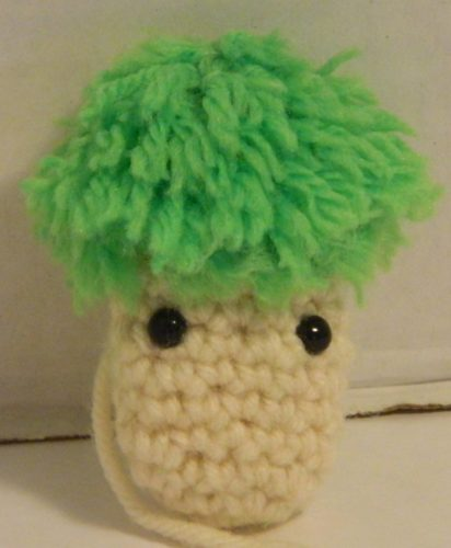 Crocheted Lemmings Head