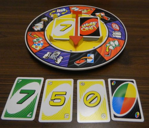 Playing Cards in UNO Spin