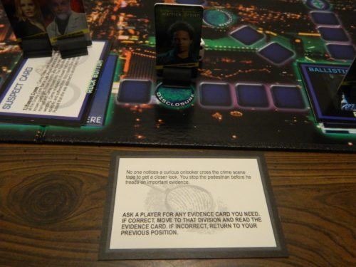 Disclosure Card in CSI Board Game