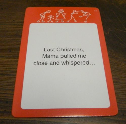 Prompt Card in Relative Insanity