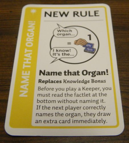 Rule Card in Anatomy Fluxx