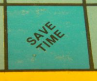 Save Time Symbol Blue Light Special
