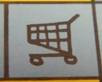 Shopping Cart Symbol Blue Light Special