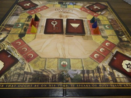 Setup for The Da Vinci Code Board Game
