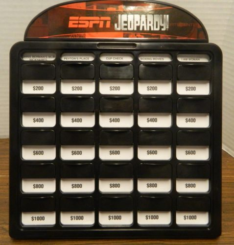 Setup for ESPN Jeopardy