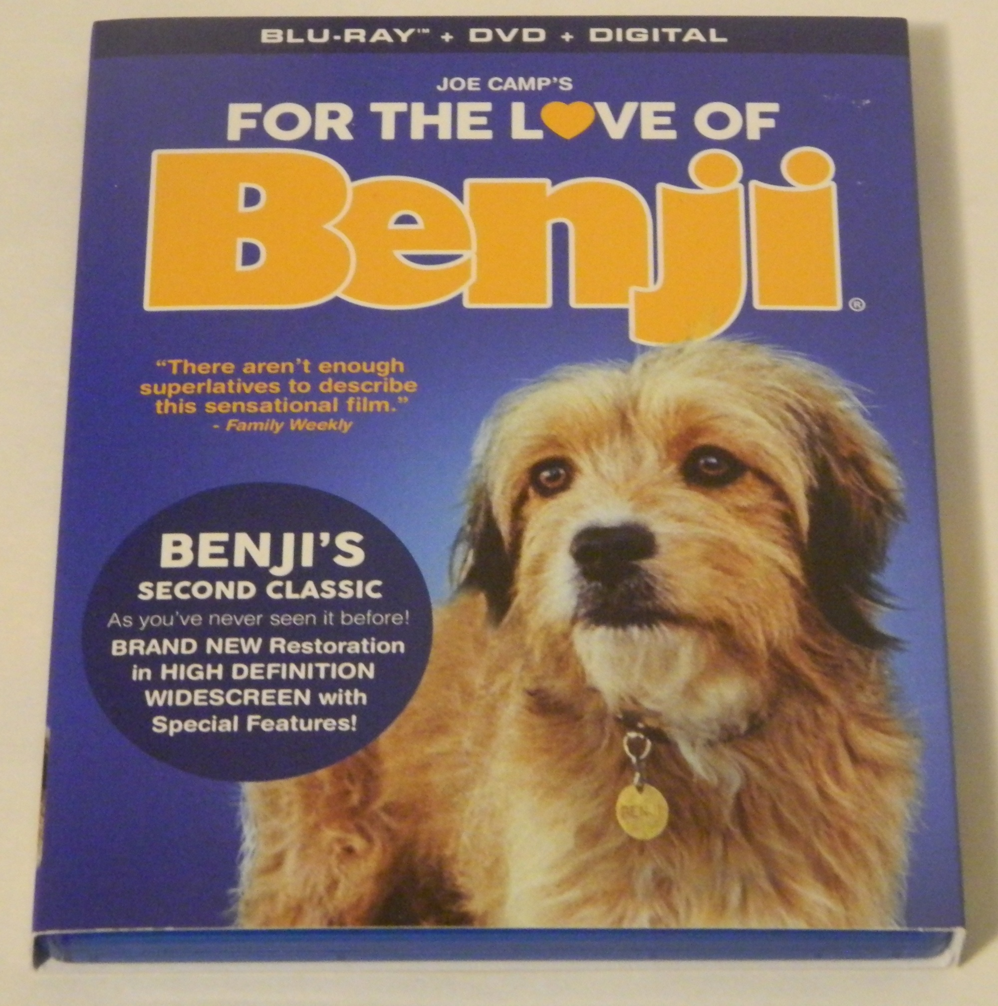 For the Love of Benji Blu-ray