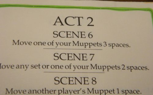 Script for The Muppet Show Game