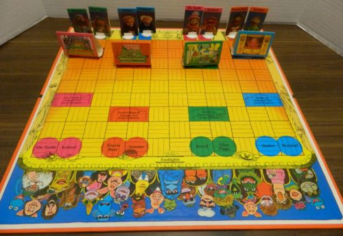 Setup for The Muppet Show Game