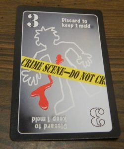 Discard to Keep One Meld Card in Lie Detector The Crime Fighting Card Game