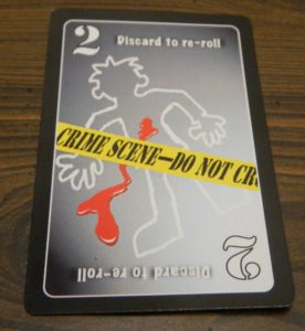 Discard to Re-Roll Card in Lie Detector The Crime Fighting Card Game