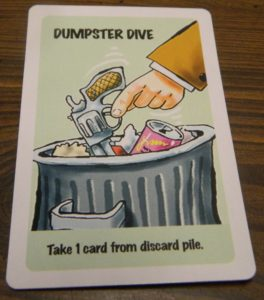 Dumpster Dive in Lie Detector The Crime Fighting Card Game