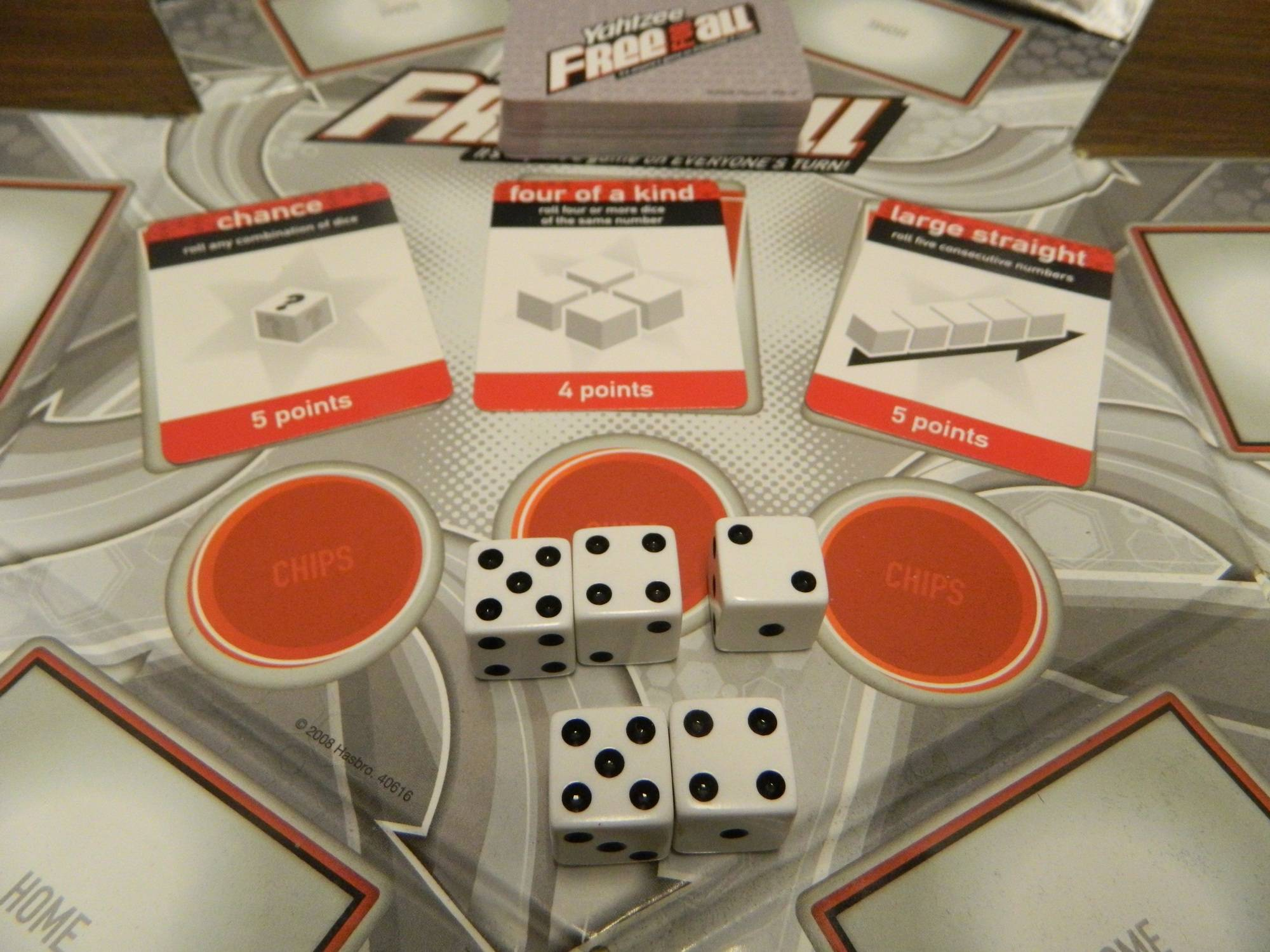 Yahtzee Free For All Rules