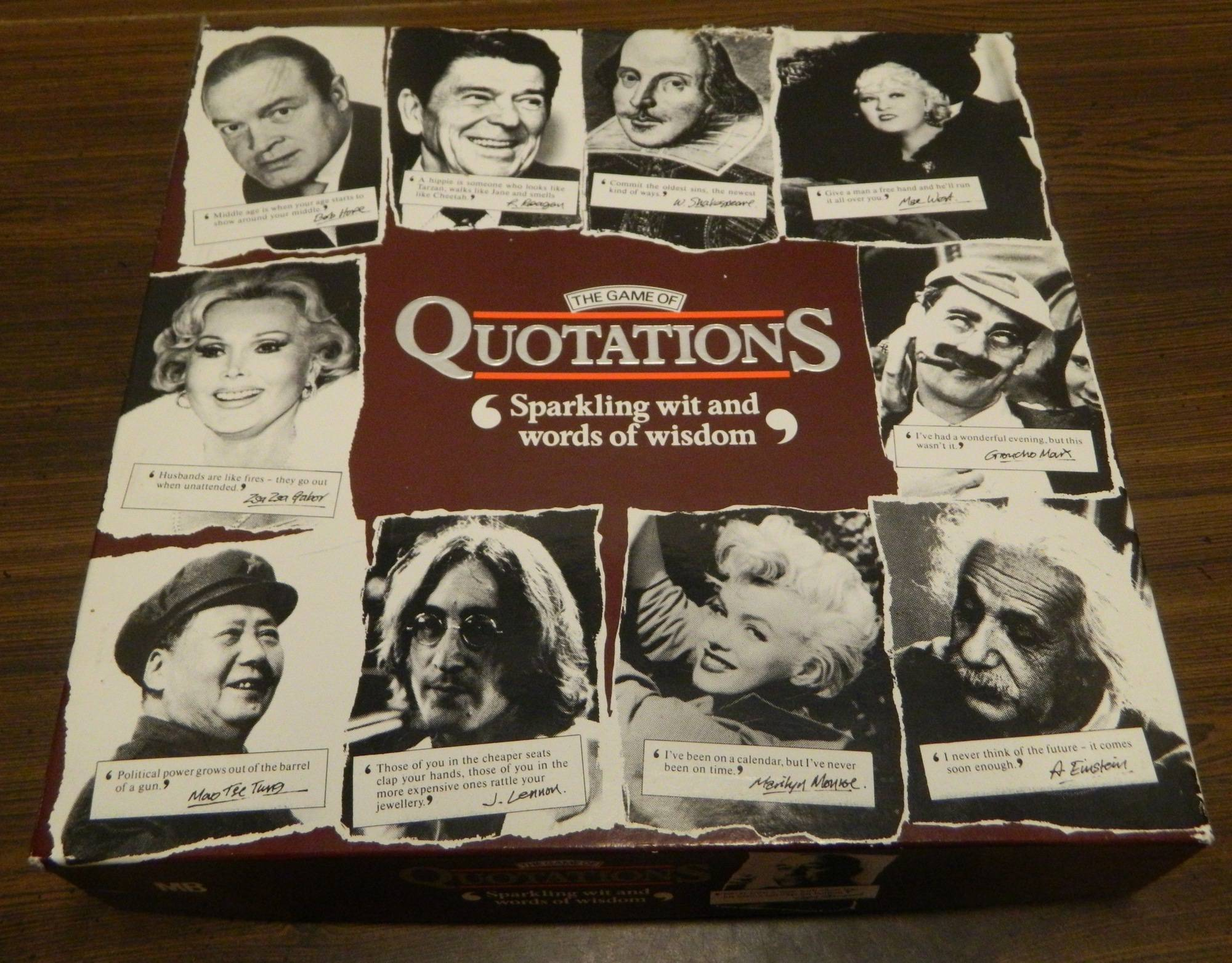 Box for Game of Quotations