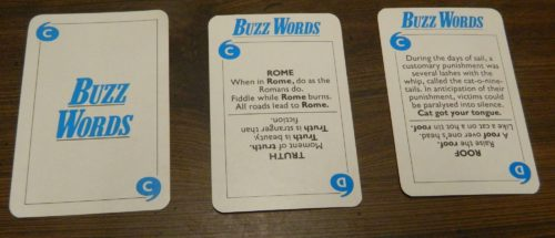 Buzz Words in Game of Quotations