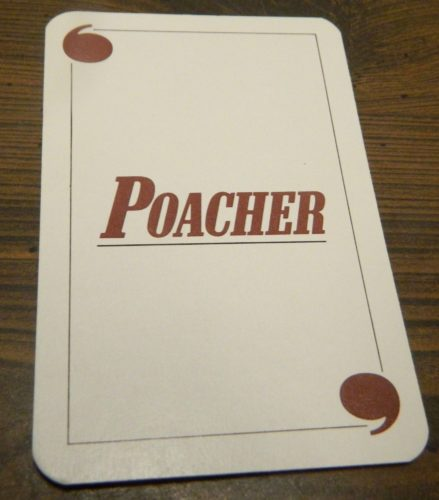 Poacher Card in Game of Quotations