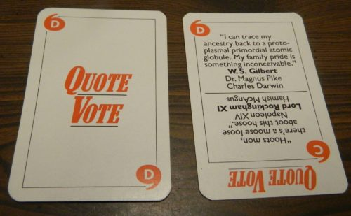 Quote Vote in Game of Quotations