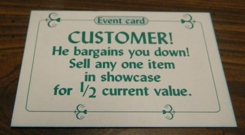 Customer Card in Sold! The Antique Dealer Game
