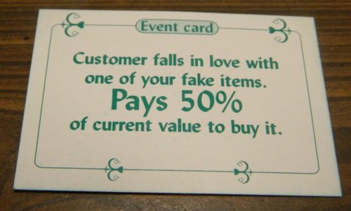 Fake Card in Sold! The Antique Dealer Game