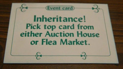 Inheritence Card in Sold! The Antique Dealer Game