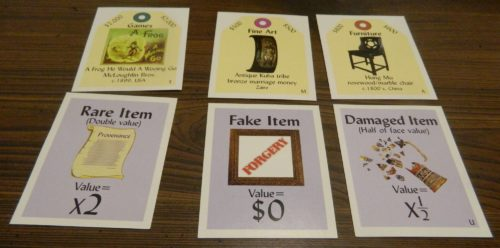 Special Value Cards in Sold! The Antique Dealer Game