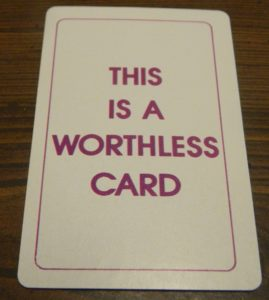 Worthless Card in Doubletrack