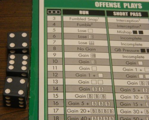 Offensive Roll in Pizza Box Football