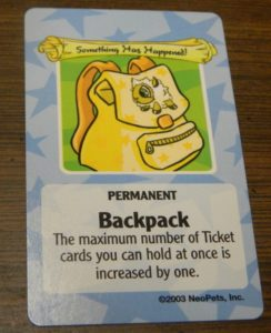 Permanent Random Event Card in Neopets Adventures in Neopia