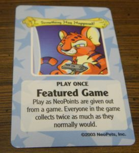 Play Once Random Event Card in Neopets Adventures in Neopia