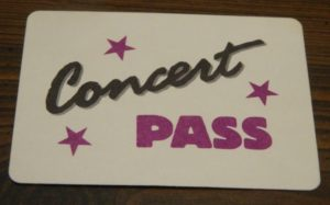 Concert Pass Card in the New Kids On The Block Game