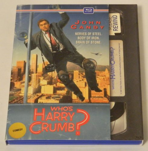 Who's Harry Crumb Retro VHS Art Blu-ray