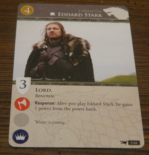Character Card in Game of Thrones Card Game