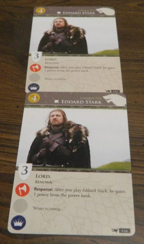 Duplicate Card in Game of Thrones Card Game
