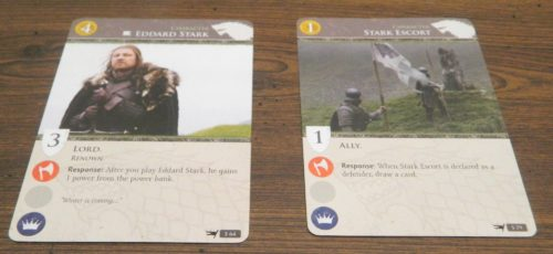 First Cards in Game of Thrones Card Game
