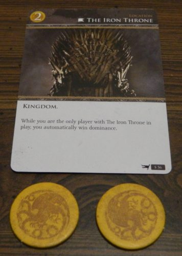 Paying for a Card in Game of Thrones Card Game