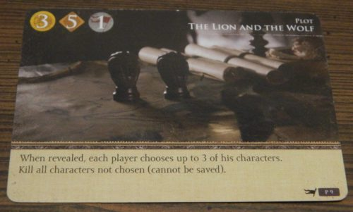 Plot Card in Game of Thrones Card Game